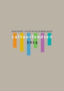 1 Rapport cultuurfondsen Cover DEF.indd