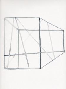 zonder titel (blauwgrijze ruimte) 32,5x24,5cm