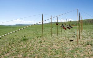 Biennale installatie A Nomadic Dyptich